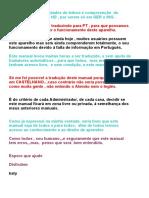 Manual de Instruções DREAM 800HD Em PT , By Katy