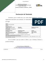 Declaração de Matrícula 2018/2 Vinicius Benetti