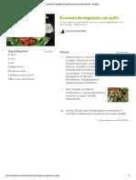 Ensalada de Vegetales Con Pollo
