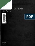 Dittmar. Vetus Testamentum in Novo. Die alttestamentlichen Parallelen des Neuen Testaments im Wortlaut der Urtexte und der Septuaginta (1903).