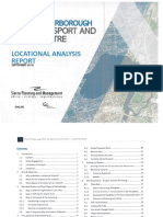 Peterborough Multi-Use Sport and Event Centre Locational Analysis Report