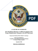 A Failure of Oversight - House Oversight Democratic Report