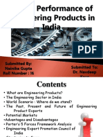 Export Performance of Engineering Products