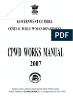 CPWD Works Manual 2007