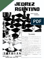 El Ajedrez Argentino Año X Nº 6 – Junio 1956