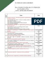 PLANIFICAREA CONSULTATIILOR CU PĂRINŢII LA CLASA a VI.docx