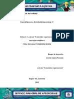 """Evidencia 1 Artículo """"Trazabilidad Organizacional"""""""
