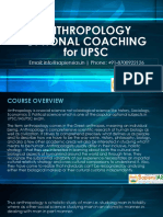 Anthropology Optional Coaching for UPSC