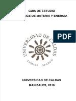 Guía Balance de materia y energía