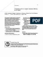 Assessment of Fetal Maturity Prior to RARTIKEL KEBIDANANepeat Cesarean Delivery