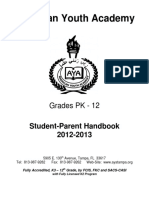 Forms-AYA Student-Parent Handbook 2012-2013