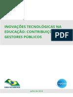 Inovações Tecnológicas Na Educação Constribuições Para Gestores Públicos 1