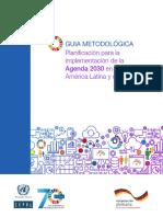 Guía Metodológica Planificación Para La Implementación de La Agenda 2030 en América Latina y El Caribe