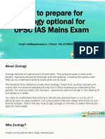 How to prepare for Zoology optional for UPSC IAS Mains Exam