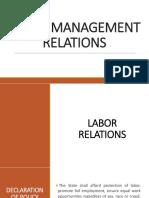 Labor Management