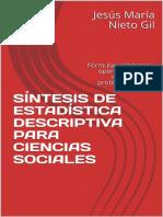 Síntesis de Estadística Descriptiva Para Ciencias Sociales - Jesús María Nieto Gil