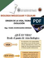 1 ORIGEN DE LA VIDA, TEORIAS. EVOLUCION - 2016.II - chiclayo.pptx