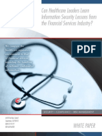 Healthcare Leaders - IT Lessons from the Financial Services Industry? - Redspin Information Security