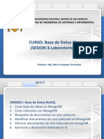 Base de Datos III Sesion 3.0 06-09-2018 -Laboratorio -Mongo Version 1.0-Ultimo