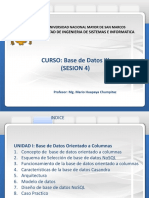 Base de Datos III Sesion 4.0 13-09-2018 Version 1.0