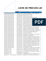 Lista de Precio General