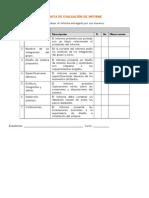 Pauta de Evaluacion Informe