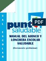 Manual Del Kiosco y Lonchera Saludable