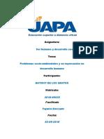 Antony de Los Santos-Problemas Socio-Ambientales y Su Repercusión en Desarrollo Humano