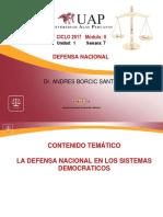 Unidad IV Semana 7 La Defensa Nacional en Los Sitemas Democraticos (1)