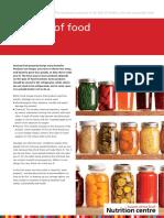 Fact Sheet Storage of Food