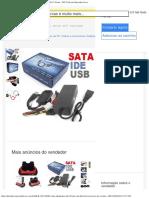 Cabo Adaptador Usb 20 Ide Sata Hd Dvd Conversor Pc C Fonte - R$ 32,90 em Mercad