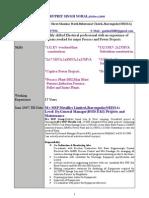 Resume g s Sohal 010708