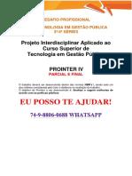 Anhanguera Prointer Parcial Gestão Pública 3 e 4