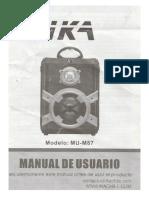 Manual Parlante o Equipo Sonido IKA MU-M87