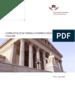 Literatur_Untersuchungsausschuss