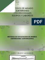 Metodos de Explotación en Mineria Subterranea 1