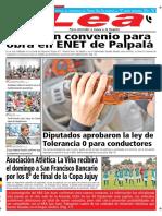 Periódico Lea Viernes 14 de Septiembre Del 2018