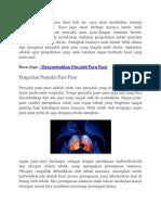 Bagaimana Cara Yang Mudah Menyembuhkan Penyakit Paru Paru
