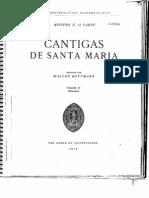 Glossário das Cantigas de Santa Maria por Walter Mettmann - parte 1