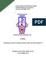 Acara Minggu Keluarga 1 Oktober 2017 Bhs Batak