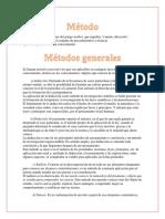 Investigación métodos. HDM