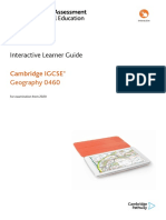 434881 Learner Guide for Cambridge Igcse Geography 0460 for Examination From 2020