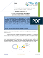 EXPERIMENTAL INVESTIGATION ON STRAIGHT THROUGH SOLAR SALT WATER DESALINATION SYSTEM ANALYSIS IN DIFFERENT PCM MATERIALS