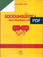 Sociolinguistica (Uma Introdução Crítica) - Louis - Jean Calvet