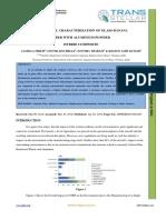 MECHANICAL CHARACTERIZATION OF GLASS-BANANA  FIBER WITH ALUMINIUM POWDER  HYBRID COMPOSITE