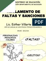 EVY Reglamento de Faltas y Sanciones Julio 2011