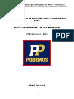 Julio Cesar Piña Dávila-Podemos por el Progreso del Perú
