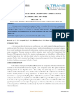 COMPUTATIONAL ANALYSIS OF A SEDAN USING COMPUTATIONAL  FLUID DYNAMICS SOFTWARE