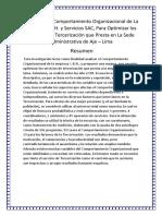 Programa de Comportamiento Organizacional de La Empresa C