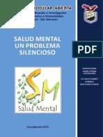 Salud Mental Un Problema Silencioso